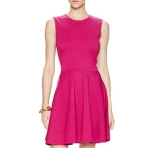 DVF ~ JEANNIE PINK DAHLIA DRESS ~ 4 ~ FIT & FLARE